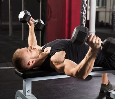 Get your upper body into shape with the dumbbell bench press
