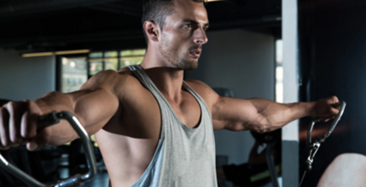 Keep your fitness in front. Gym equipment for chest, shoulders and biceps.