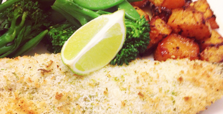 Healthy Recipes: Coconut and lime crusted sea bass