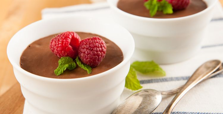 Guilt free chocolate pots