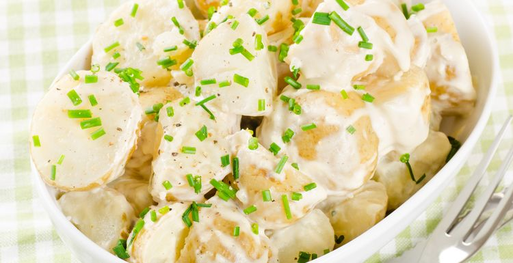POTATO AND PEPPER SALAD WITH MUSTARD YOGURT DRESSING