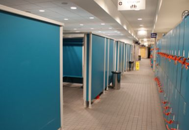 changing rooms at Mile End Park Leisure Centre