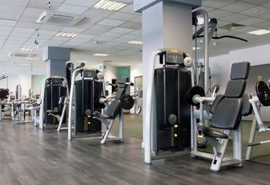 MAIN GYM AREA AT LEYTON LEISURE CENTRE LONDON