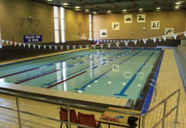 SWIMMING POOL AT BARNET COPTHALL LEISURE CENTRE LONDON