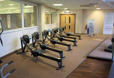 ROWING MACHINES AT BARNET COPTHALL LEISURE CENTRE LONDON