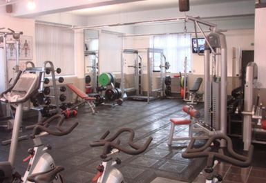 weights area at the gym clinic london