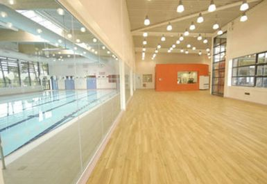 swimming pool fitness studio at Etwall Leisure Centre Derby