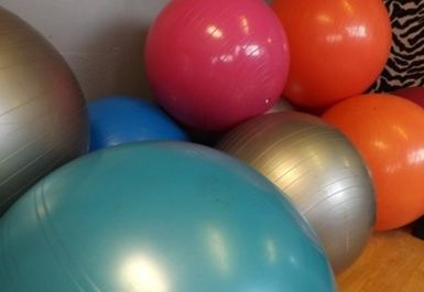 Exercise Balls at Central Fitness Centre Dudley
