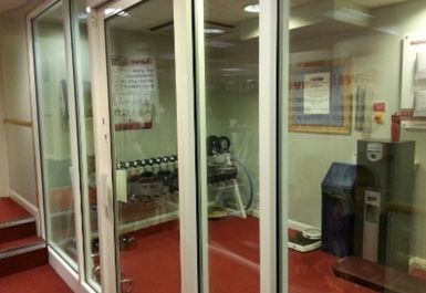 ENTRANCE TO GYM AREA AT PACE HEALTH CLUB NORTHAMPTON
