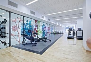 EXERCISE AREA AT PANCRAS SQUARE LEISURE LONDON