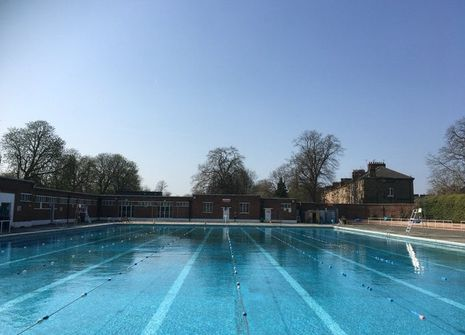 Image from Brockwell Lido
