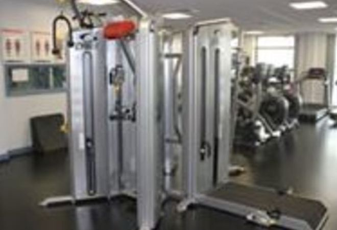 Accross College Gym picture