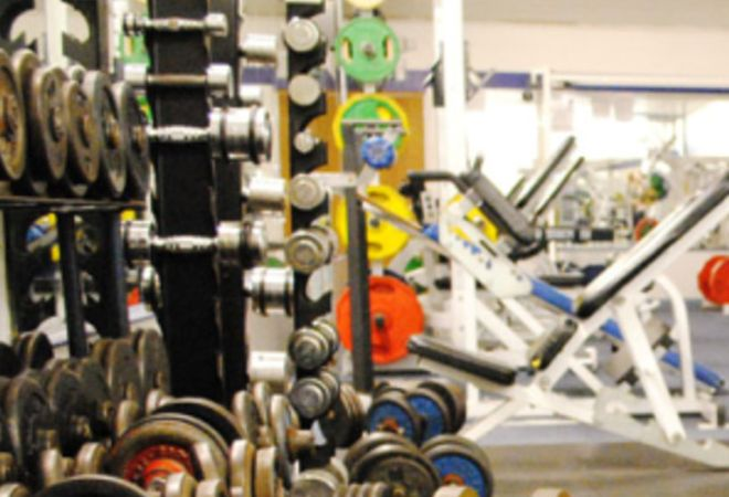WEIGHTS AT E4 FITNESS AND LEISURE LONDON